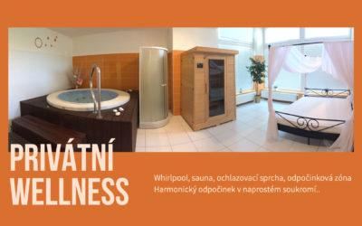 Whirlpool i saunu si u nás nyní nově můžete užít v naprostém soukromí