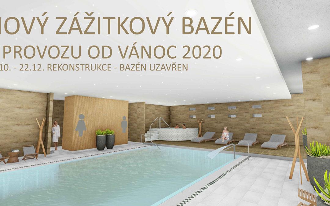 Již brzy otvíráme nový zážitkový bazén